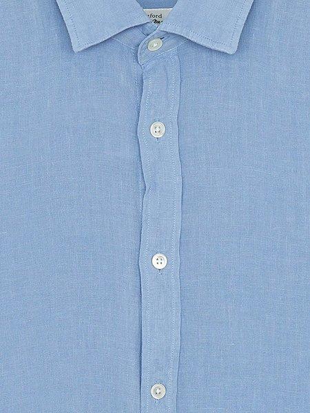 Hartford Sammy Linen Shirt - Baltic