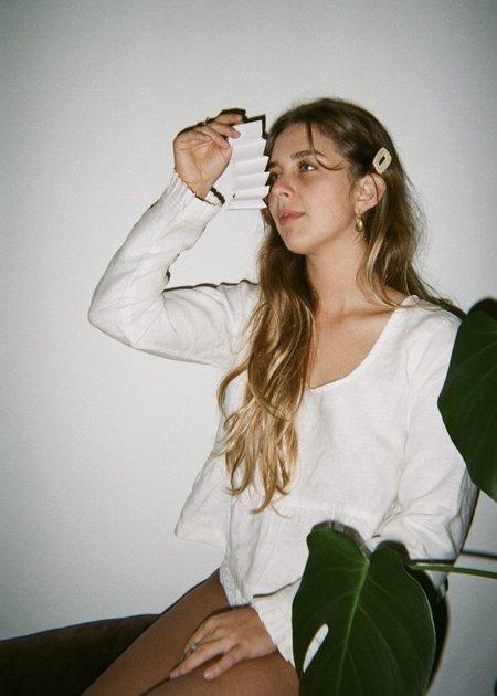 Bees & Bones Lyalie Blouse - White Linen
