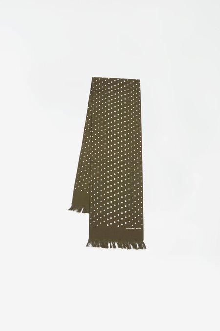 Universal Works Short scarf - dot print olive
