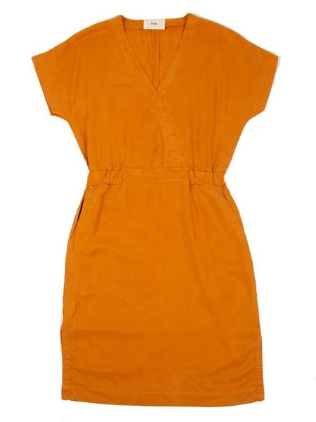 Folk Clothing Alber Dress - Marigold