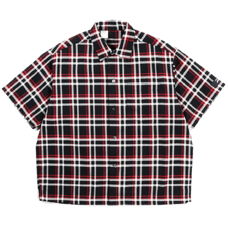 N.Hoolywood Short Sleeve Undercover Shirt - BLACK CHECK