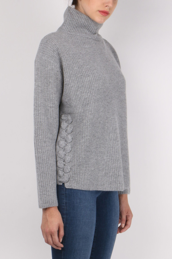 Allude Lace Up Turtleneck