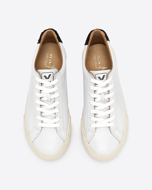 VEJA Esplar Leather Tilapia Extra White Black