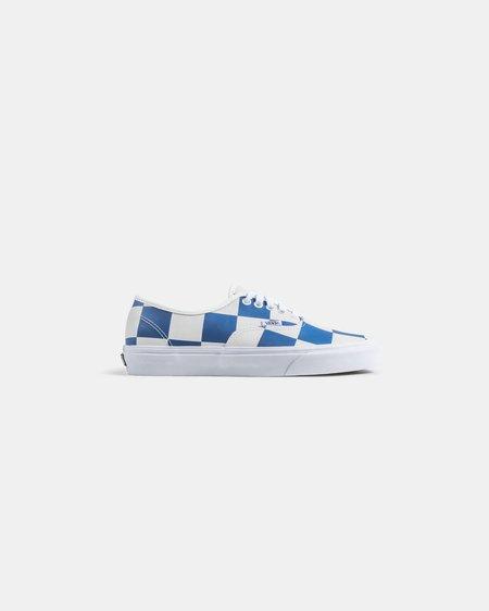 VANS Authentic Leather Check Shoe - white/blue