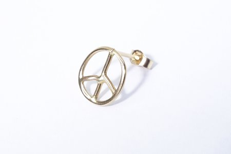 Talisman Peace Sign Stud