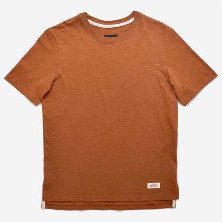 Outclass Attire Slub Short-Sleeve T-Shirt - Terracotta