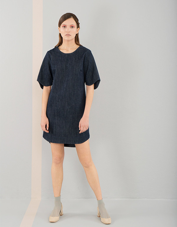 Elise Ballegeer Croquet Dress - Denim