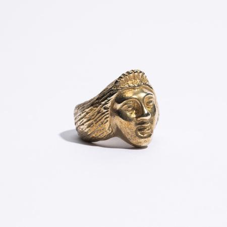 Saint Claude x Freda Lady Face Ring - Brass