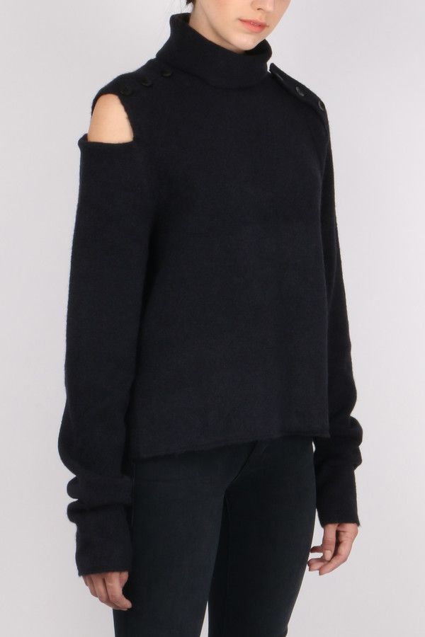 Tibi Cozy B. Cropped Pullover