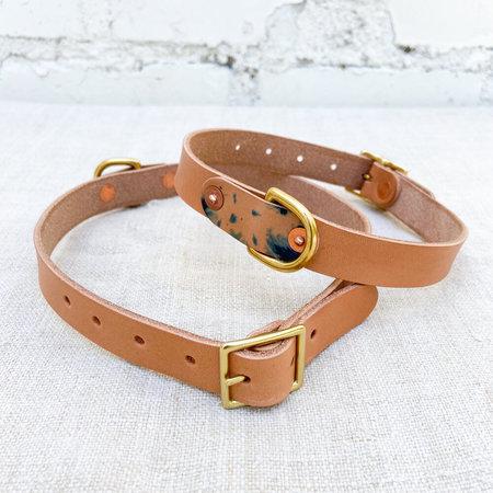 Made Solid Dog Collar - Tan