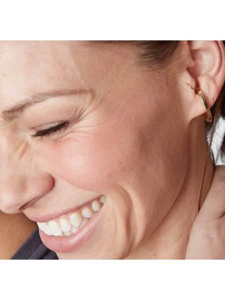 LADY GREY JEWELRY Oval Huggie Earrings