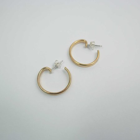 Mesa Cottontail Hoops Small - Brass
