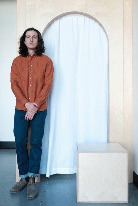GLENN'S DENIM Utility Shirt - Rust