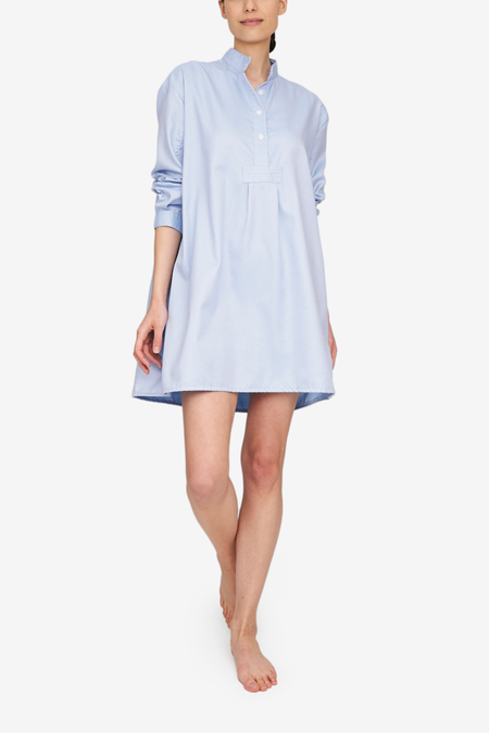 The Sleep Shirt Short Sleep Shirt - Periwinkle Twill