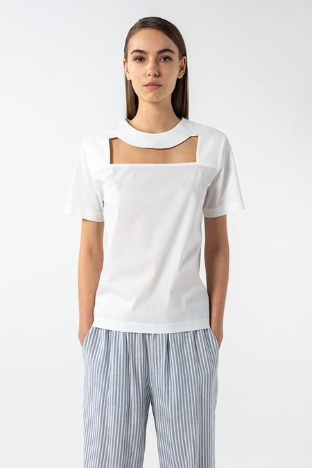 AISHA DIRI CUT OUT T-SHIRT - White