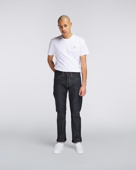 Edwin ED47 Regular Straight Red Selvage Denim - Unwashed