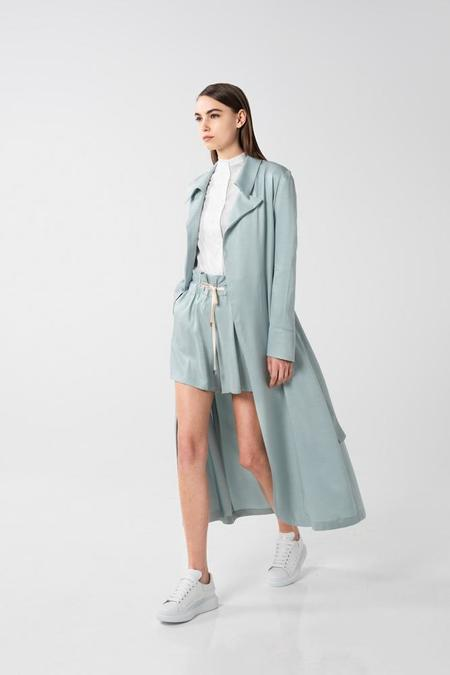 AISHA DIRI TRENCH COAT - Shy Green