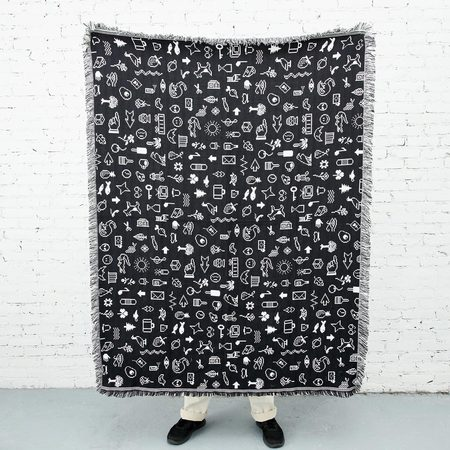 Areaware Cairo Throw - Black/White