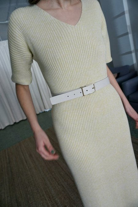 MAISON BOINET LEATHER BELT - IVORY