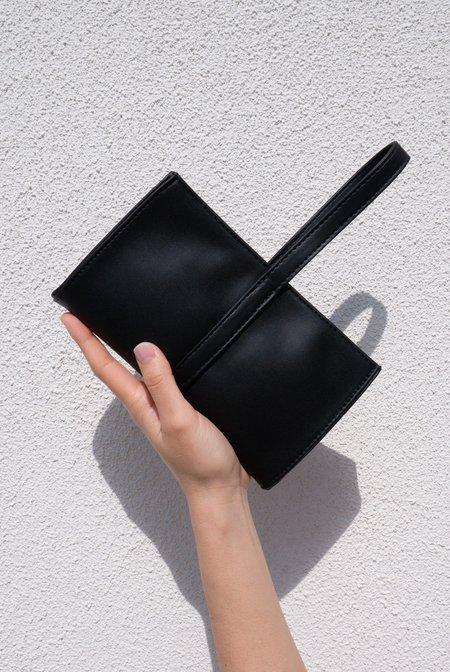 Hozen Vegan Leather Wristlet Clutch - Onyx