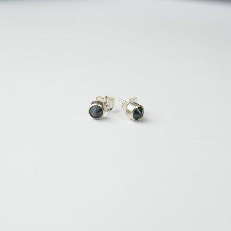 Favor Black Spinel Spike Posts - Silver