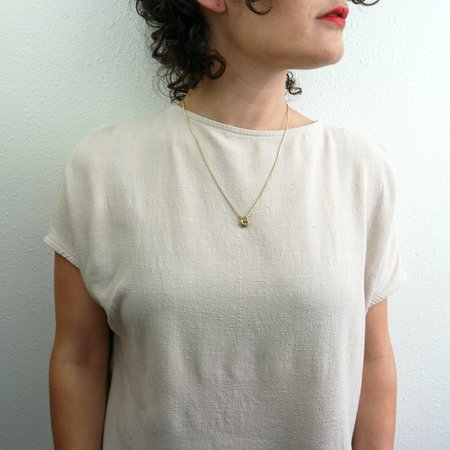 Rebekah J Designs Tether Necklace - Brass
