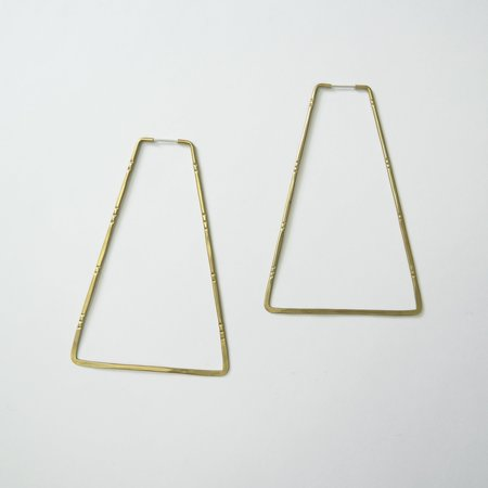 Essie Day Triangle Step Hoop - Brass