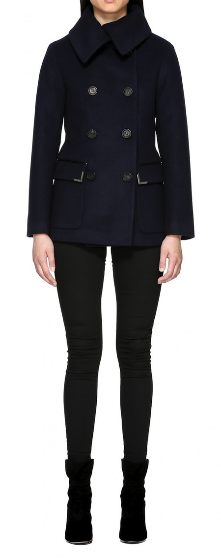 Mackage Phoebe Hip Length Flat Wool Coat