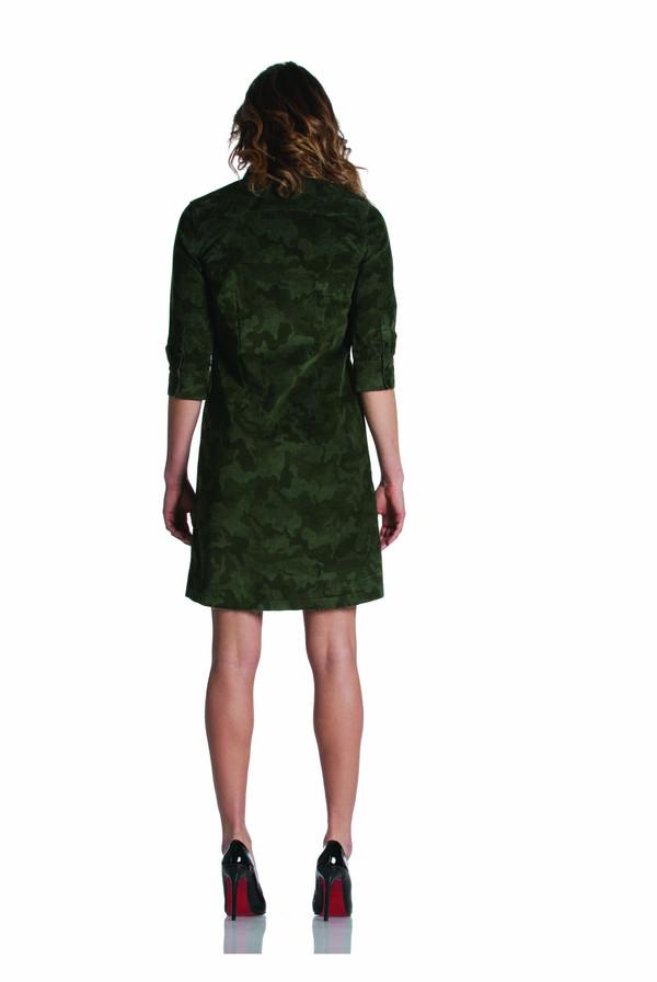 Etienne Marcel Camo Corduroy Mini Dress