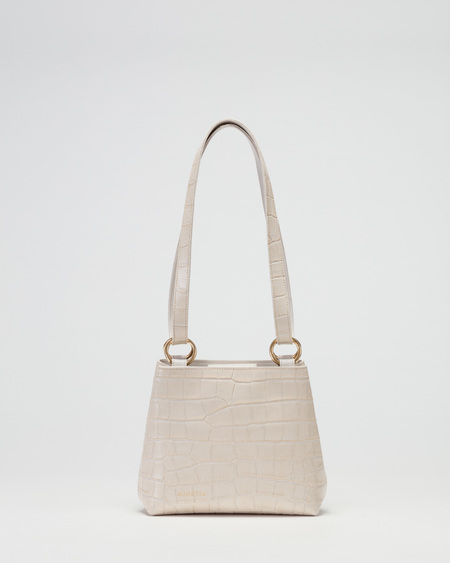 AUDETTE JOUR BAG - CROCO CREAM