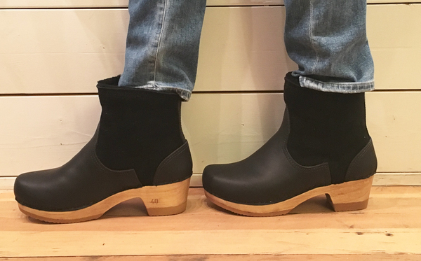 """No. 6 5"""" pull on shearling boot - mid heel"""