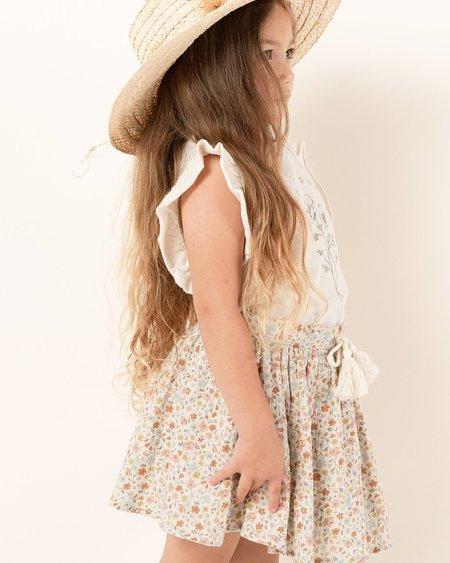 Rylee + Cru Flower Field Mini Skirt - Natural