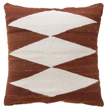 Pampa Puna Floor Cushion #10 - rust/white