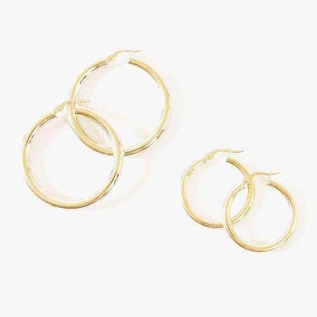 Deux Lions Joan Hoops Pair - 10k Gold