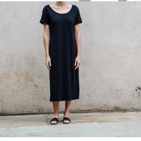 ALI GOLDEN T-SHIRT DRESS - BLACK