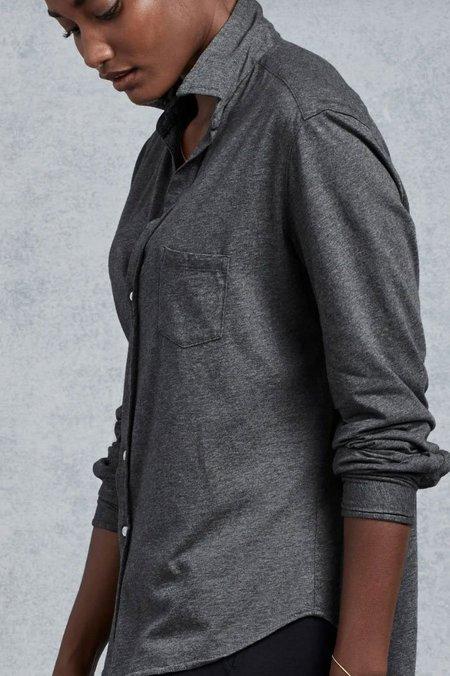 Tee Lab Button Down Shirt - Dark Grey Melange