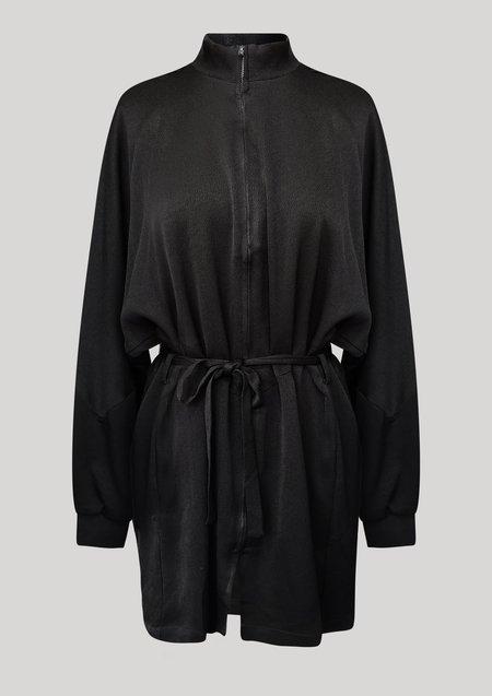 Berenik Heavy Draping Jacket/Dress - Black