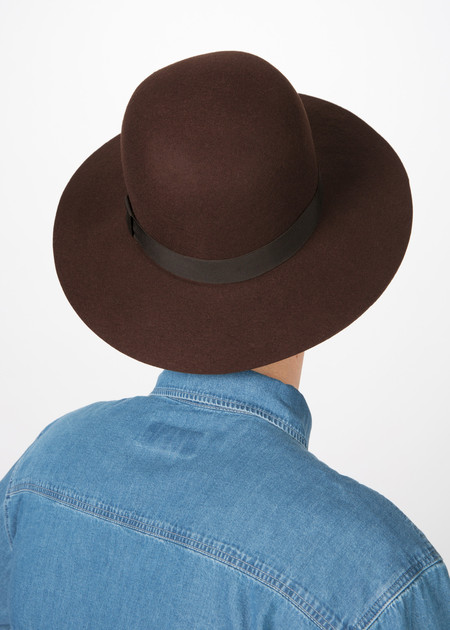 You Must Create Wide Brim Wool Hat