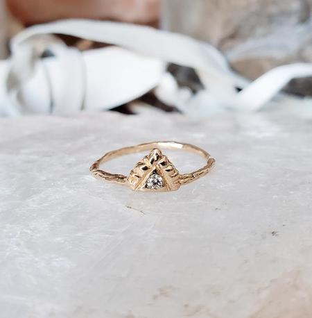 Communion by Joy Diamond Pyramid Light Ring - 14K Yellow gold