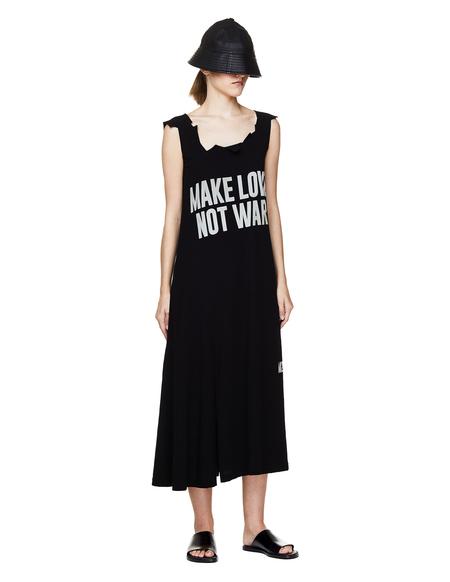 Yohji Yamamoto Printed Dress - Black