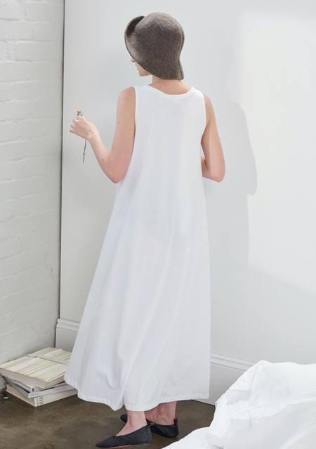 kowtow building block swing dress - white
