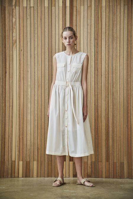 Maison De Ines SLEEVELESS SHIRT DRESS - ivory