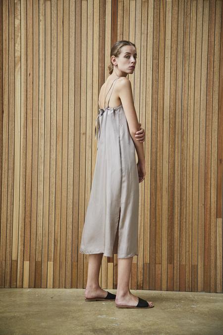Maison De Ines FEM SLIP DRESS - beige