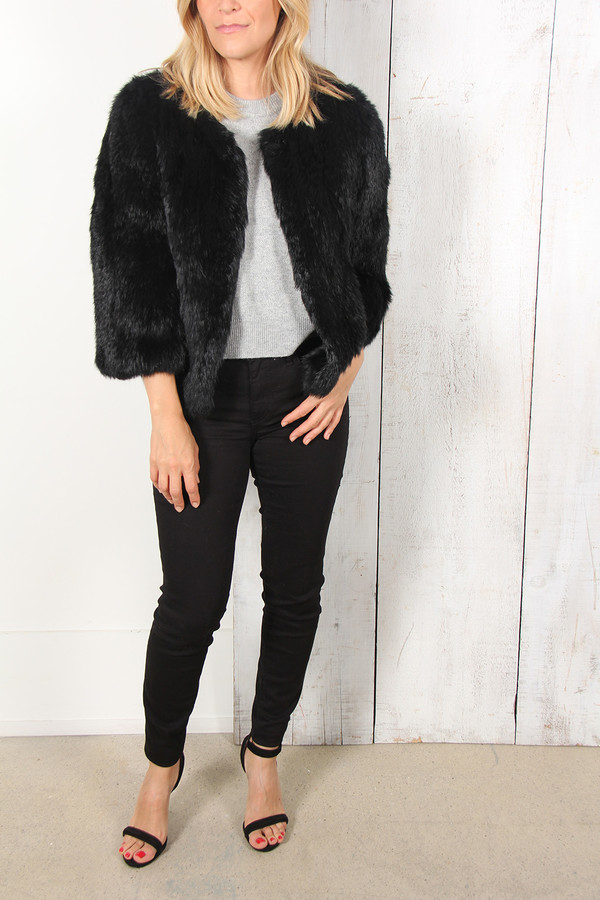Yves Salomon CROP FUR JACKET