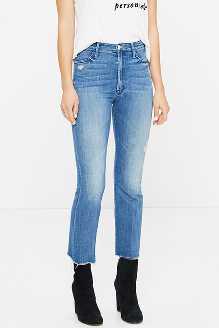 Mother Denim Hustler Ankle Fray | Graffiti Girl