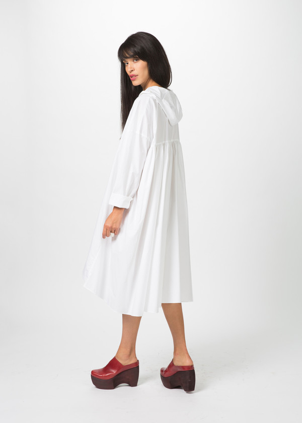 Rundholz Hooded Ruffle Dress