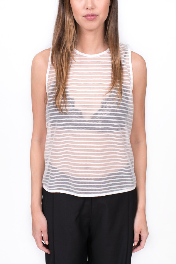 The Lady & the Sailor Keyhole Tank Sheer Stripe