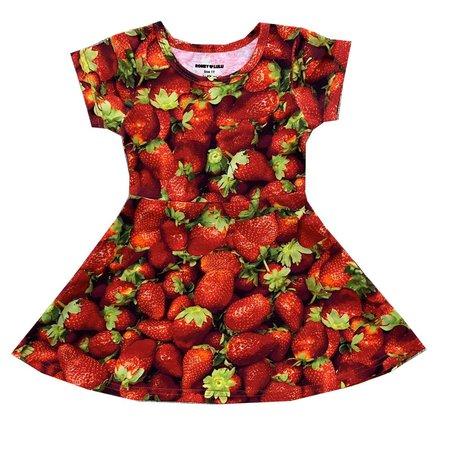 Kids Romey Loves Lulu Strawberries Skater Dress