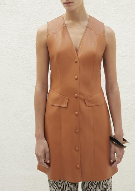 NANUSHKA Menphi dress - burnt orange