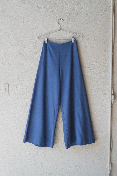 Town Clothes QUINTANA SILK NOIL PALAZZO PANT - SAPPHIRE